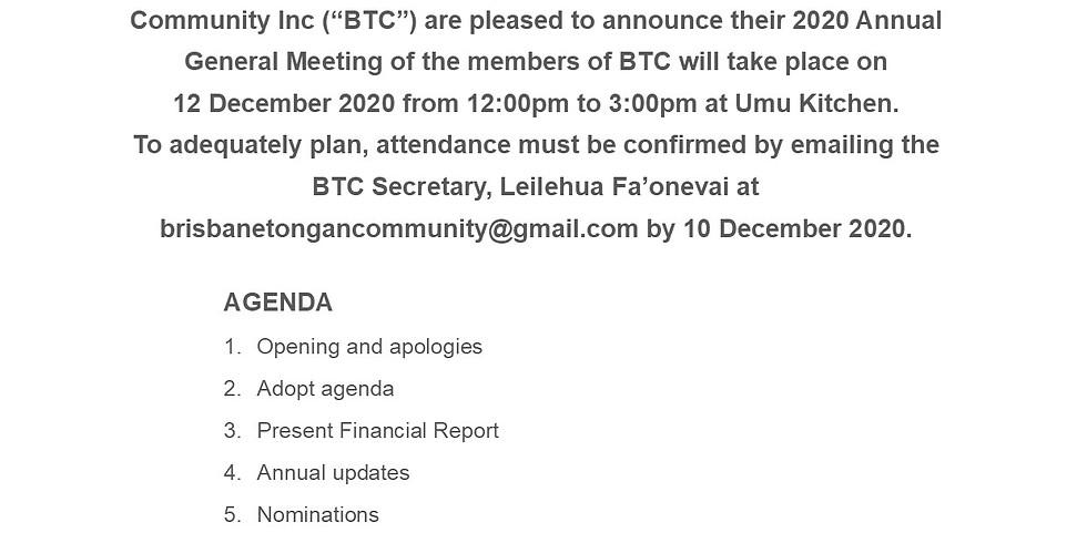 Brisbane Tongan Community Annual General Meeting 2020