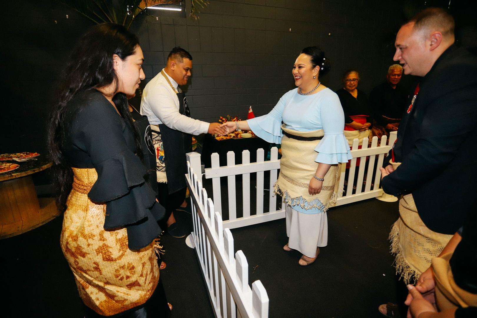 Tongan business owners in Brisbane meeting HRH  Princess Angelica Latūfuipeka Halaevalu Mata'aho Tuku'aho