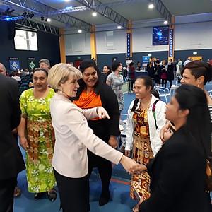 Hon Julie Bishop MP presents Australia Pacific Partnerships