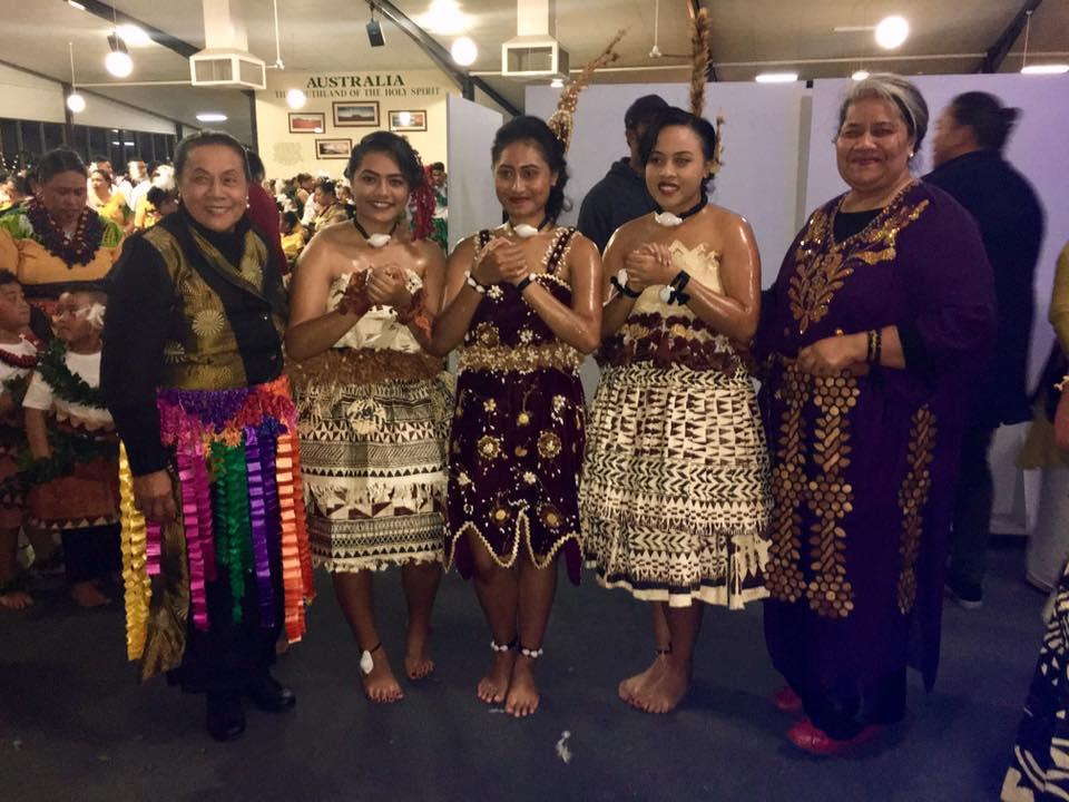 Beautiful Tongan women and youth