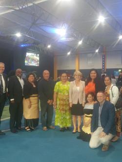 Community members with Ms Bishop