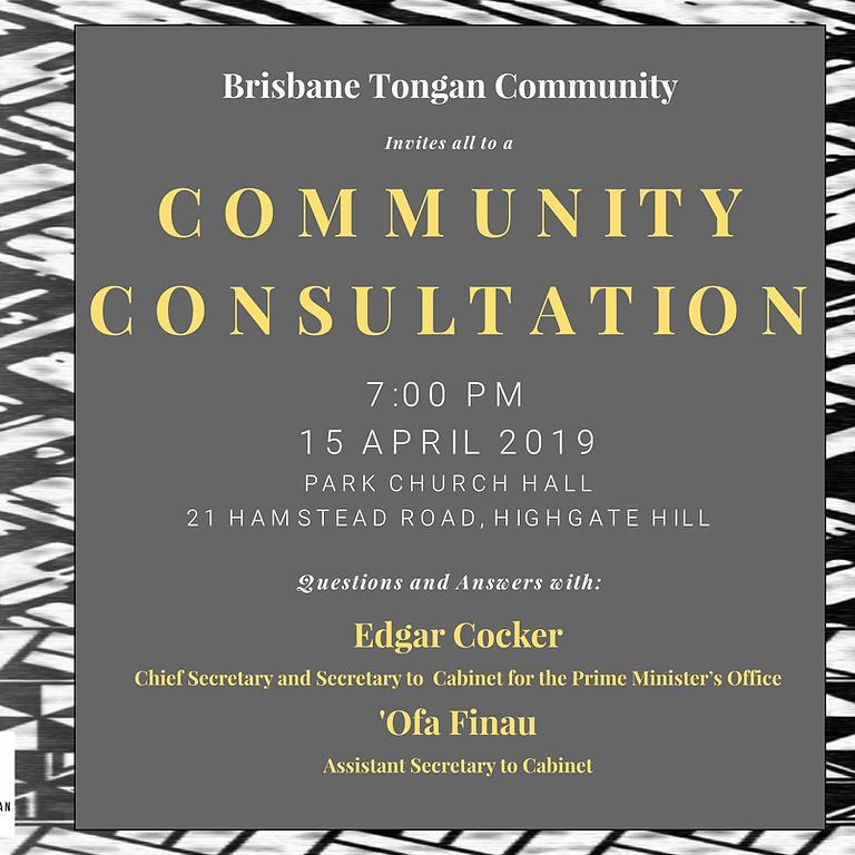 Community Consultation   Q & A