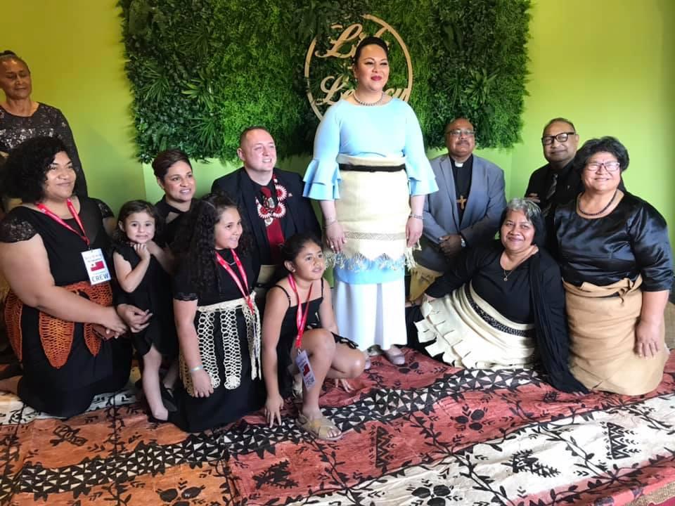Brisbane Tongan Community Inc. Management Committee with Her Royal Highness Princess Angelica Latūfuipeka Halaevalu Mata'aho Tuku'aho