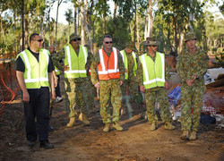 HM King Tupou VI with army members