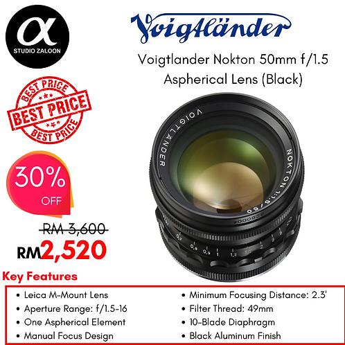 Voigtlander Nokton Vintage Line 50mm f/1.5 Aspherical Lens