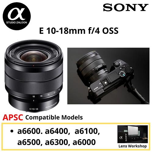 Sony 10-18mm f/4 OSS E-mount Wide-Angle Zoom SEL1018