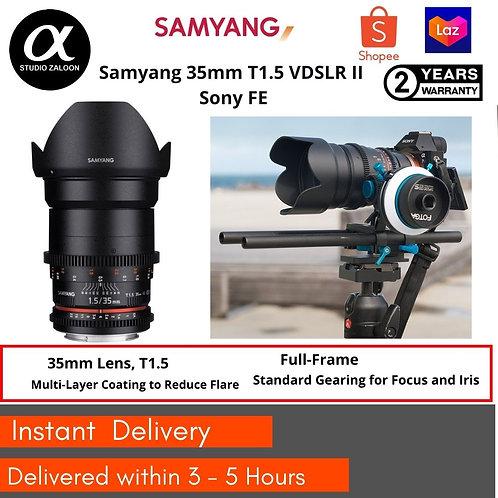 Samyang 35mm T1.5 VDSLR II Sony FE   Full Frame