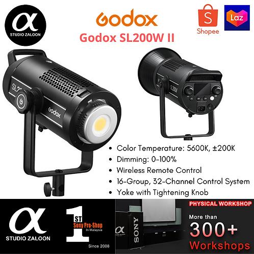 GODOX SL200W II daylight-balanced 200W LED Video Light with Bowens Mount