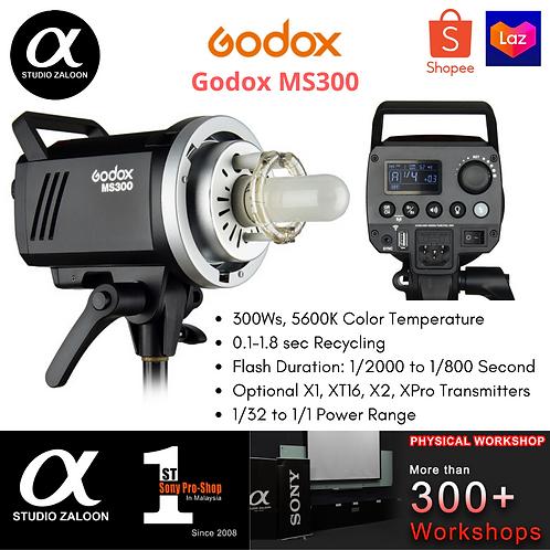 Godox MS300 300Ws, 5600K Studio Strobe Head Flash Light Lamp Monolight