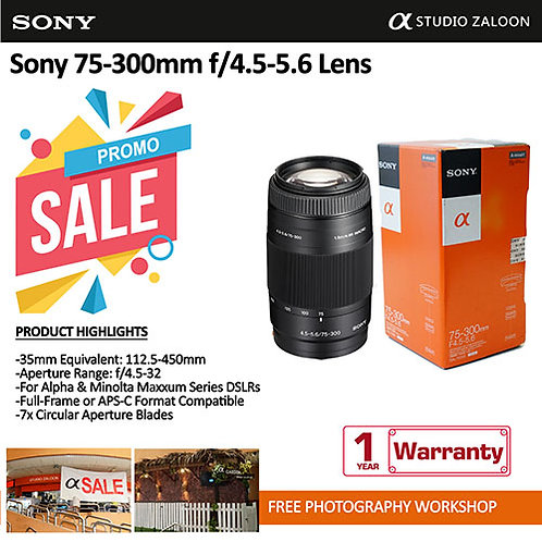 Sony 75-300mm f/4.5-5.6  Telephoto Zoom Lens SAL75300