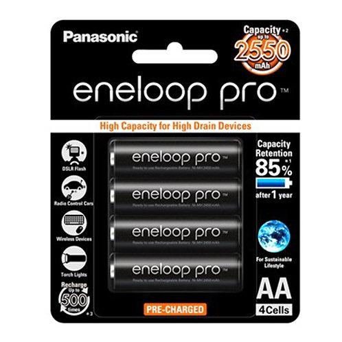 Panasonic Eneloop Pro BK-3HCCE/4BT Rechargeable Battery