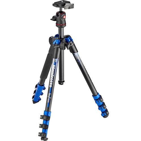 Manfrotto MKBFRA4BL-BH BeFree Color Aluminum Travel Tripod (Blue)
