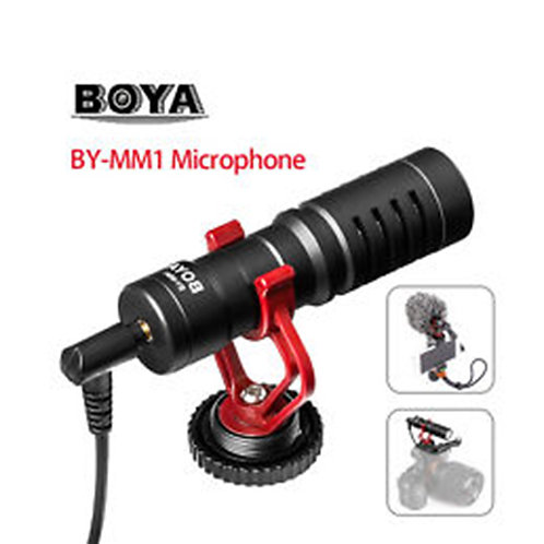 BOYA BY-MM1 CARDIOID MICROPHONE MIC 3.5MM PLUG FOR DSLR, SMARTPHONE