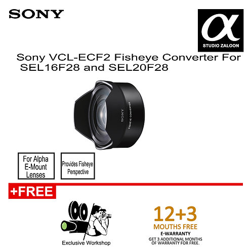 Sony VCL-ECF2 Fisheye Converter For SEL16F28 and SEL20F28