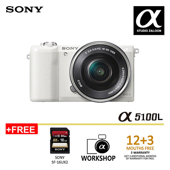 [ pre order 1 weeks] Sony A5100 WITH 16-50mm Lens Digital Camera (WHITE)