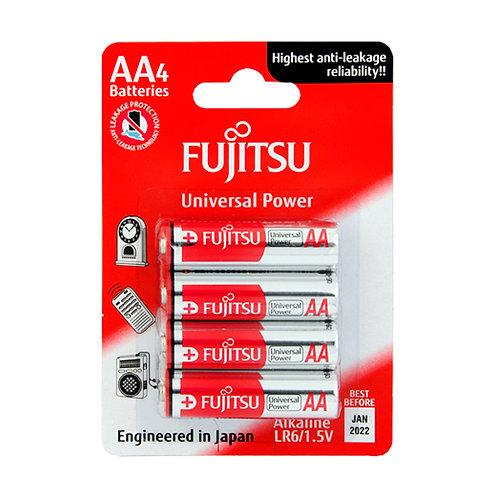 FUJITSU LR6 ALKALINE AA 4PCS BATTERY