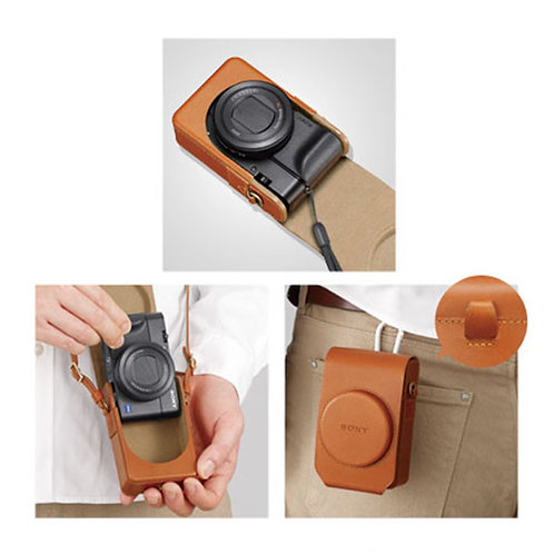 Sony LCS-RXG Soft Carrying Case Brown