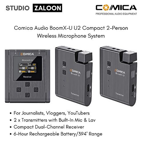 Comica Audio BoomX-U U2 Compact 2-Person Wireless Microphone System
