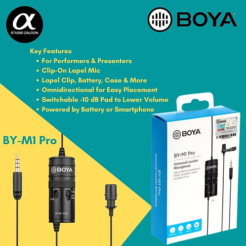BOYA BY-M1 Pro Omni Lavalier Mic for Smartphones and Cameras (TRRS)