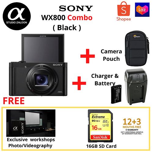 Sony Cyber-shot WX800( Black ) Combo