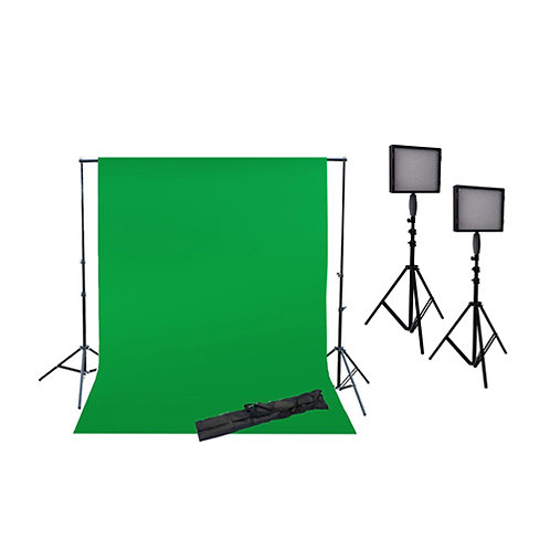 NANGUANG LED LIGHTING STUDIO KIT (2X4M BACKDROP & 2 x LIGHT KIT)