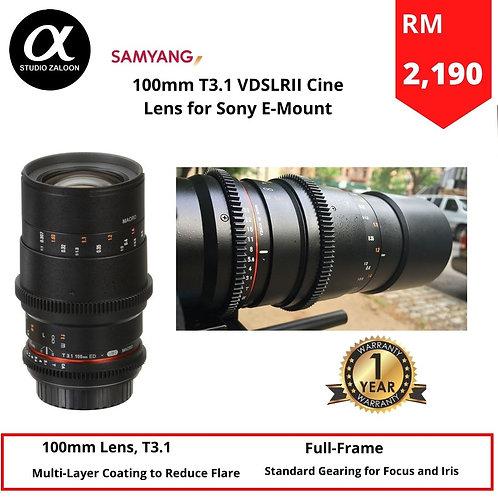 Samyang 100mm T3.1 VDSLR II Sony FE   Full Frame