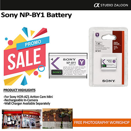 Sony NP-BY1 Y Battery for Action Cam Mini
