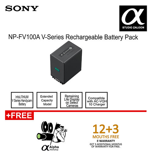 Pre Order 5 Weeks Sony NP-FV100A Rechargeable Battery Pack