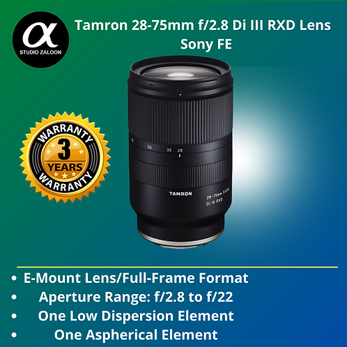 Tamron 28-75mm f/2.8 Di III  for Sony E ( 3Years DSC Warranty