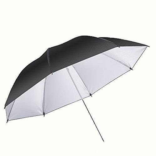 Umbrella 2 in 1 Black and White 33'' 84cm
