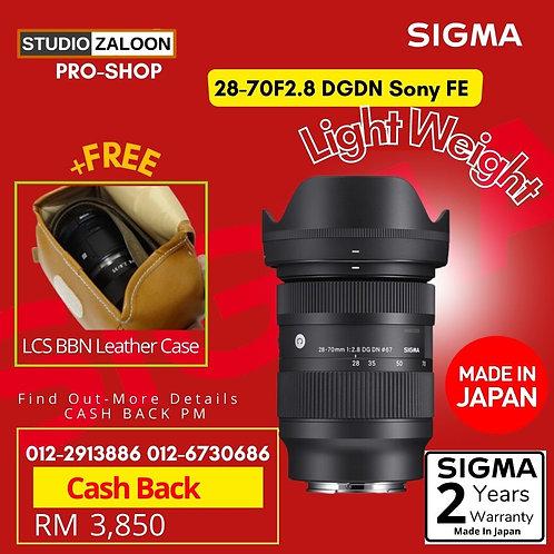 Sigma 28-70mm f/2.8 DG DN +Free Sony LCS BBN Case +CASH BACK