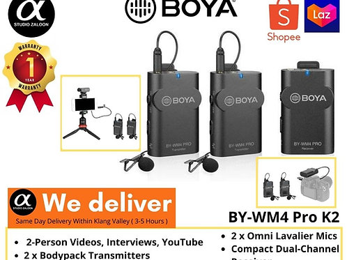 BOYA BY-WM4 PRO-K4 Dual-Channel Digital Wireless Microphone for iOS Devices