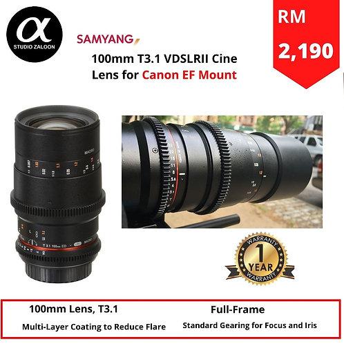 Samyang 100mm T3.1 VDSLRII Cine Lens for Canon EF Mount