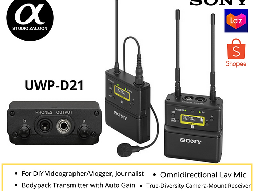 Sony UWP-D21 Camera-Mount Wireless Omni Lavalier Microphone System (UC14: 470 to