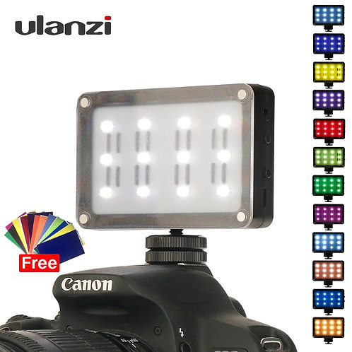 Ulanzi 21 CardLite Mini LED Video Camera Lighting with 12 Color Gels