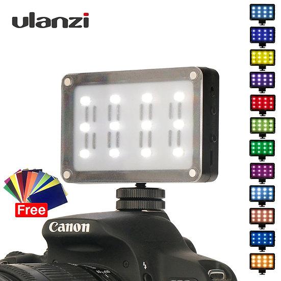 Ulanzi 21 CardLite Mini LED Video Camera Lighting with 12 Color Gels