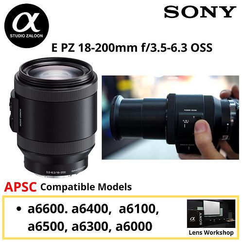 [Pre Order 3 Weeks]Sony E PZ 18-200mm f/3.5-6.3 OSS Lens