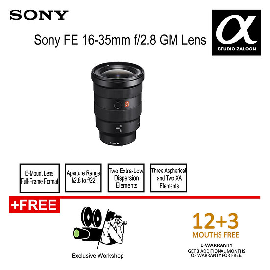Sony FE 16-35mm f/2.8 GM Lens 1635gm