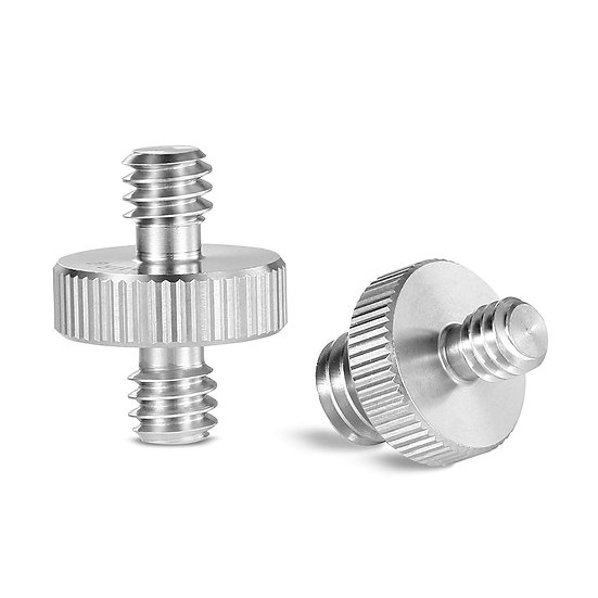 Double Head Converter Screw Pack 1/4 to 1/4