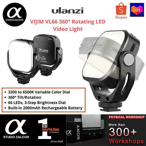 VIJIM VL66 360° Rotating LED Video Light