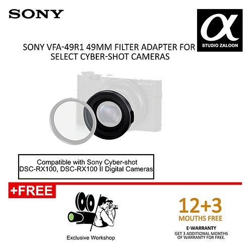 Sony VFA-49R1 49mm Filter Adapter for Select Cyber-shot Cameras