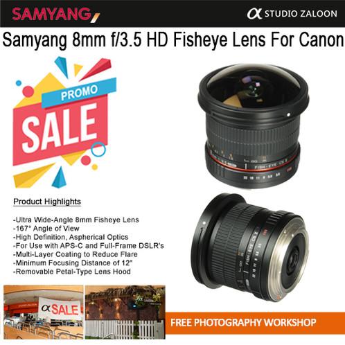 Samyang 8mm f/3.5 Fisheye Lens for CANON