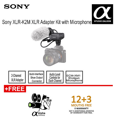 Sony XLR-K2M XLR Adapter Kit with Microphone