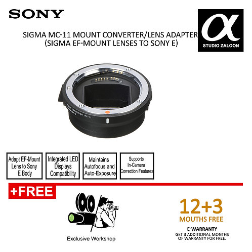Sigma MC-11 Mount Cconverter/Lens Adapter (EF-Mount Lenses to Sony E)
