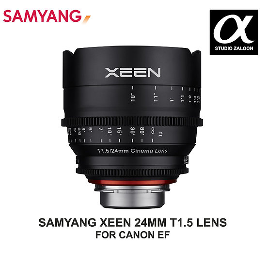 [PRE-ORDER 5 WEEKS] Samyang XEEN 24mm T1.5 CANON  Cine Lens CANON