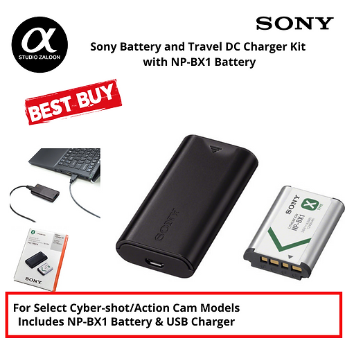 Sony ACC-TRDCX Travel DC Charger Kit with NP-BX1