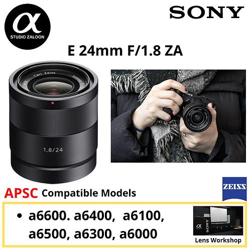 Sony 24mm f/1.8 ZA E-Mount Carl Zeiss Sonnar Lens SEL24F18Z