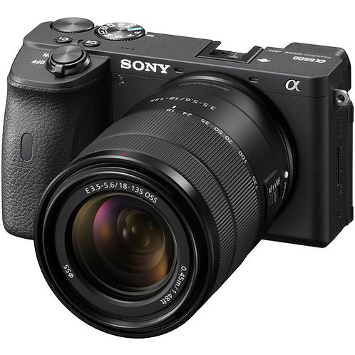 Sony Alpha a6600 M-Mirrorless Digital Camera with 18-135mm Lens