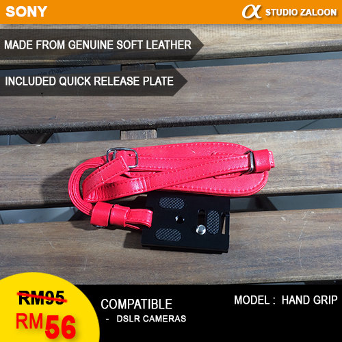 Camera Hand Strap PU Leather with Metal Quick Release Plate