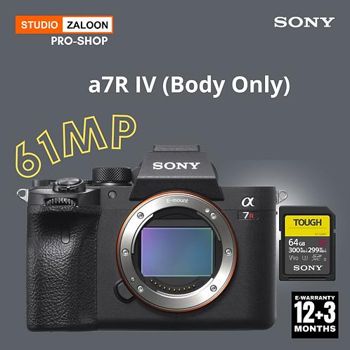 Sony Alpha a7R IV Mirrorless Digital Camera (Body Only)+INSTANT CASH BACK
